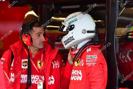 Marc Gene, Ferrari, with Sebastian Vettel, Ferrari