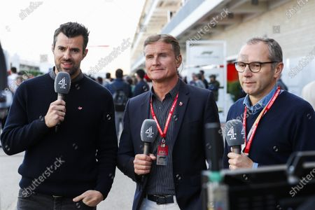 Presenters Steve Jones and David Coulthard, Channel 4 F1