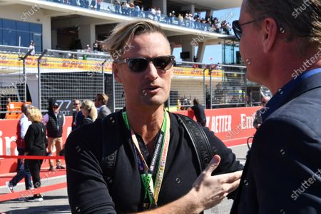 Musician Brian Tyler, composer of the F1 theme, with Presenter David Coulthard
