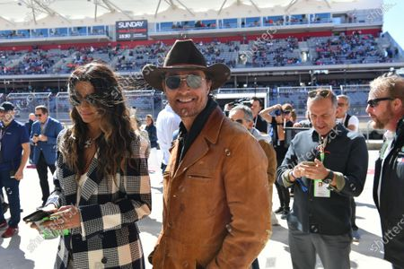Stock Image of Model Camila Alves and her husband, actor Matthew McConaughey