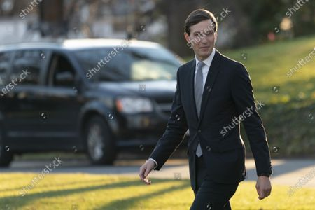 Jared Kushner, Assistant to the President and Senior Advisor, walks along the South Lawn as he prepares to depart the White House in Washington, DC, en route to Mar-a-Lago in West Palm Beach, Florida where they will spend the holidays. Prior to his departure, the President vetoed H.R. 6395, the National Defense Authorization Act (NDAA) for Fiscal Year 2021.