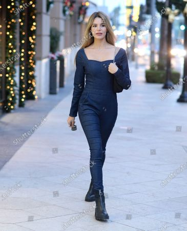 Stock Image of Madison Grace is seen on Rodeo Drive in Beverly Hills