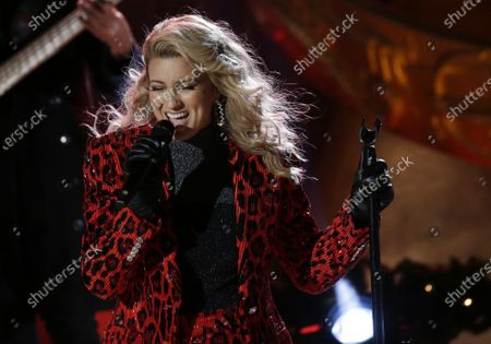 Stock Picture of Tori Kelly performs at the 88th annual Rockefeller Center Christmas Tree Lighting Ceremony at Rockefeller Center in New York City