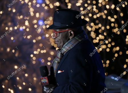 Broadcast show co host Al Roker introduces a performer at the 88th annual Rockefeller Center Christmas Tree Lighting Ceremony at Rockefeller Center in New York City