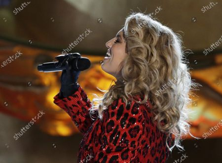 Tori Kelly performs at the 88th annual Rockefeller Center Christmas Tree Lighting Ceremony at Rockefeller Center in New York City
