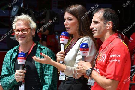 Jacques Villeneuve, Llaria D'Amico, and Marc Gene