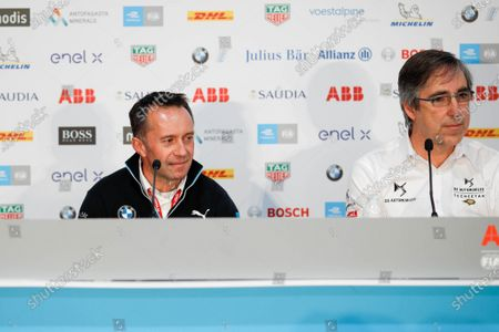 Roger Griffiths, Team Principal, BMW i Andretti Motorsport and Mark Preston, Team Principal, DS Techeetah in the press conference