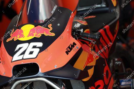 Bike of Dani Pedrosa, Red Bull KTM Factory Racing.