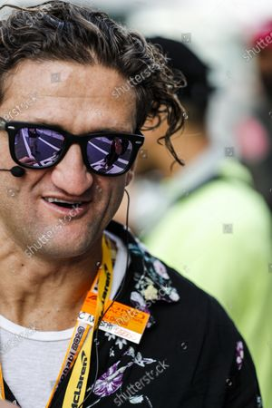 Stock Image of Pirelli Hot Laps guest YouTube personality Casey Neistat