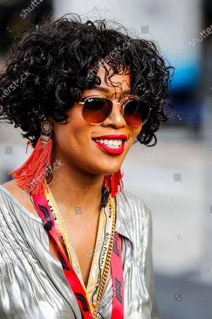 South African actress and television presenter Nomzamo Mbatha