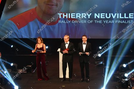 Ari Vatanen on stage to present the Rally Driver of the Year Award