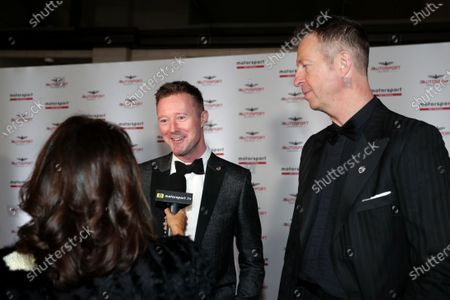 Gordon Shedden and Matt Neal are interviewed on arrival for the event