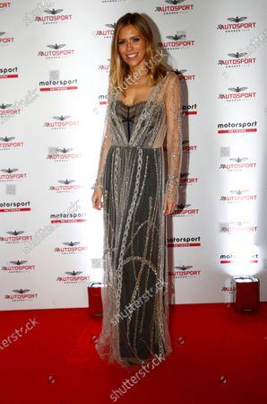 Nicki Shields, presenter, arrives on the red carpet