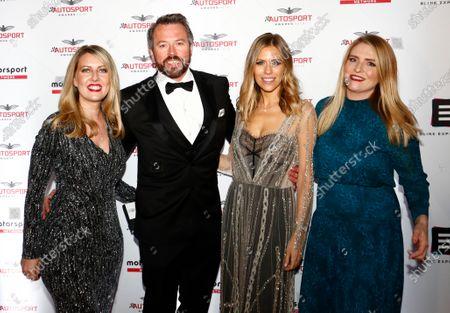 Lara Bishop, Westbury Gillet, Nicki Shields and guest arrive on the red carpet.