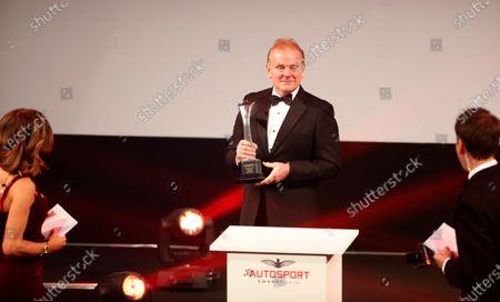 Stock Photo of Jonathan Palmer presents the Gregor Grant Award