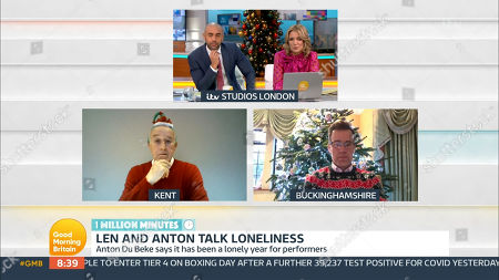 Editorial picture of 'Good Morning Britain' TV Show, London, UK - 24 Dec 2020