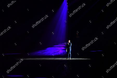 Stock Picture of David Croft entertains the fans in the Live Action Arena