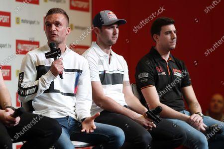 BTCC drivers Colin Turkington, Andrew Jordan and Dan Cammish are interviewd on the Autosport stage