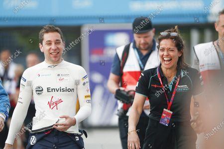 Stock Image of Robin Frijns (NLD), Envision Virgin Racing and Presenter Amanda Stretton