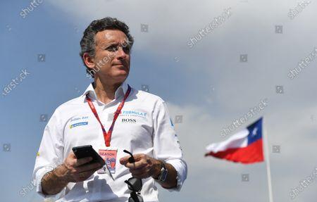 Alejandro Agag, Chairman of Formula E on the podium