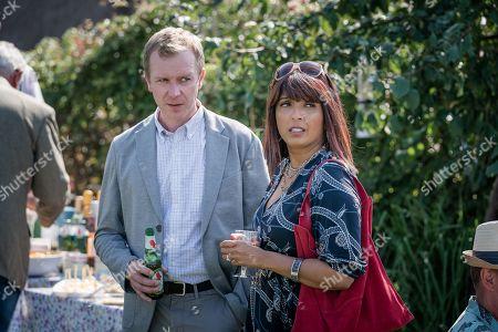 Steven Robertson as Mark Bradwell and Sunetra Sarker as Stella Bradwell