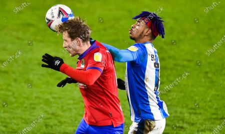 Lewis Holtby of Blackburn Rovers and Juninho Bacuna of Huddersfield Town