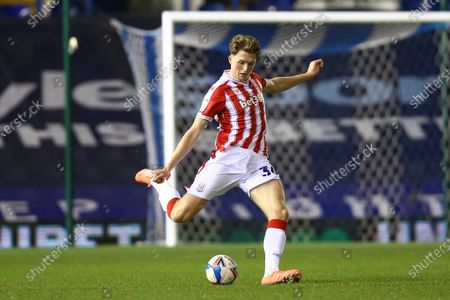 Stock Picture of Harry Souttar #36 of Stoke City crosses the ball