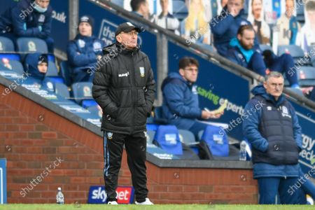 Tony Pulis manager of Sheffield Wednesday in action during the game