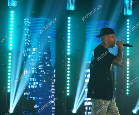 Grammy award winning latin star Nicky Jam performs at the Bardot Live theater in the Wynwood neighborhood of Miami, Florida on Friday, December 4, 2020. Nicky Jam is one of the most prolific artists in reggaeton and Latin trap. Jam has earned awards, including most notably the Billboard Latin Music Awards Latin Rhythm Song of the Year, iHeartRadio Music Awards Latin Song of the Year, and Latin Grammys Best Urban Performance and Album of the Year.