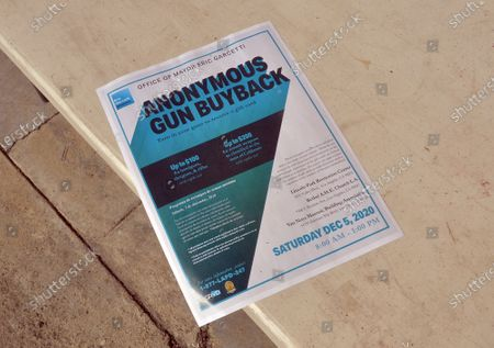 Editorial photo of Gift Cards for Guns Being Offered at Three Buy Back Events, Los Angeles, California, USA - 06 Dec 2020