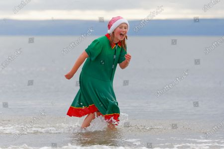 Editorial photo of A Christmas Day swim did not take place this year due to the Covid-19 Coronavirus pandemic, Porthcawl, Wales, UK - 25 Dec 2020