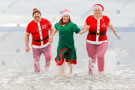 Editorial image of A Christmas Day swim did not take place this year due to the Covid-19 Coronavirus pandemic, Porthcawl, Wales, UK - 25 Dec 2020