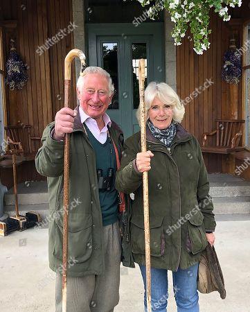 Prince Charles and Camilla Duchess of Cornwall at Birkhall