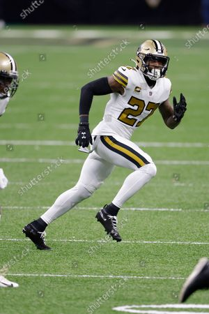 New Orleans Saints strong safety Malcolm Jenkins (27) during an NFL football game against the Minnesota Vikings, in New Orleans