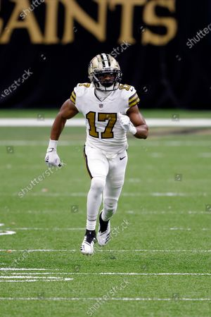 New Orleans Saints wide receiver Emmanuel Sanders (17) during an NFL football game against the Minnesota Vikings, in New Orleans