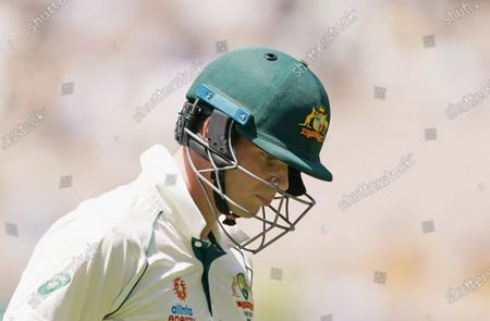 Steven Smith of Australia leaves the field after being dismissed during day one of the second Test Match between Australia and India at The MCG, Melbourne, Australia, 26 December 2020.