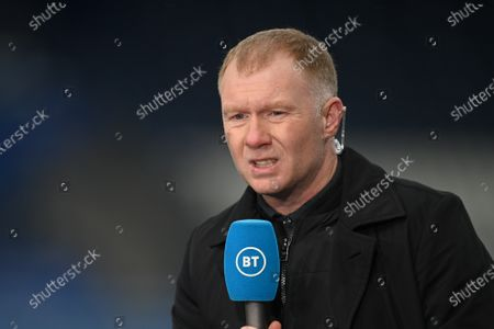 Stock Picture of Leicester City vs Manchester United Former Manchester United player Paul Scholes speaks to the press before the English Premier League soccer match between Leicester City and Manchester United in Leicester, Britain, 26 December 2020.