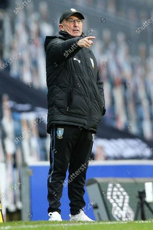 Sheffield Wednesday Manager Tony Pulis gestures during the EFL Sky Bet Championship match between Blackburn Rovers and Sheffield Wednesday at Ewood Park, Blackburn