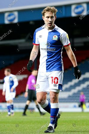 Blackburn Rovers midfielder Lewis Holtby (10) during the EFL Sky Bet Championship match between Blackburn Rovers and Sheffield Wednesday at Ewood Park, Blackburn