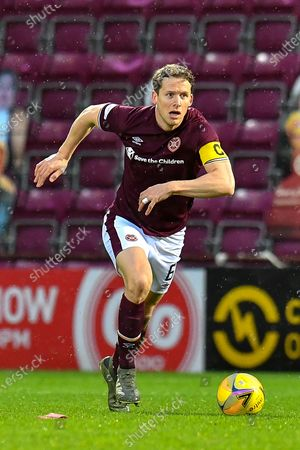 Christophe Berra (#6) of Heart of Midlothian FC during the SPFL Championship match between Heart of Midlothian and Ayr United at Tynecastle Park, Edinburgh