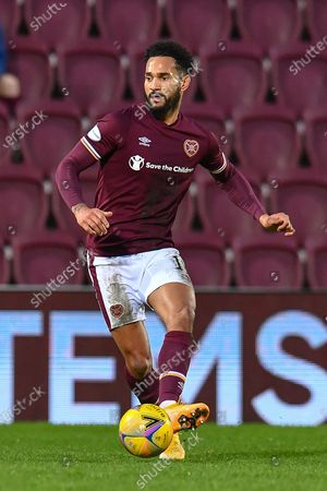Jordan Roberts (#11) of Heart of Midlothian FC during the SPFL Championship match between Heart of Midlothian and Ayr United at Tynecastle Park, Edinburgh