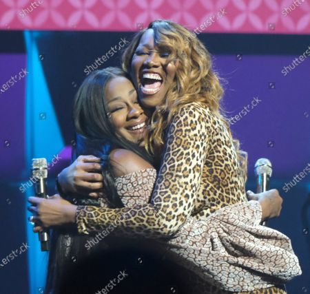 Stock Image of Le'Andria Johnson (L) and Yolanda Adams perform onstage during Super Bowl LIV week at the 21st  Super Bowl Gospel Celebration at the James L. Knight Center in Miami, Florida, on Thursday, January 30, 2020. The Super Bowl Gospel Celebration was launched in Miami in 1999 during Super Bowl XXXIII weekend. The event became the first and remains the only gospel concert sanctioned by the National Football League (NFL). Photo By Gary I Rothstein/UPI