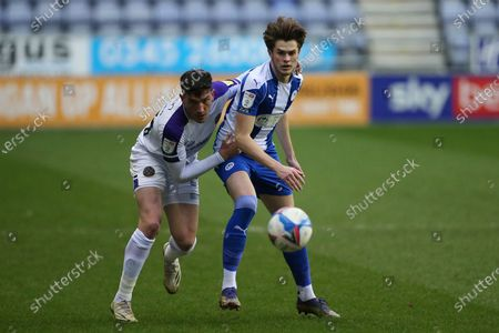Stock Picture of Wigan's Tom Pearce during the EFL Sky Bet League 1 match between Wigan Athletic and Shrewsbury Town at the DW Stadium, Wigan