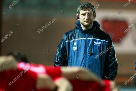 Scarlets forwards coach Richard Kelly.