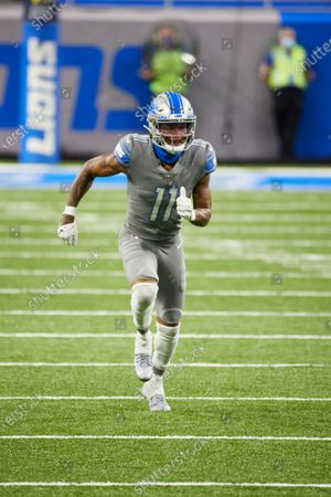 Detroit Lions wide receiver Marvin Jones (11) in action against the Tampa Bay Buccaneers during an NFL football game, in Detroit