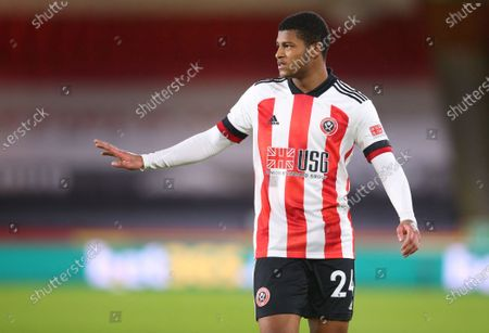 Rhian Brewster of Sheffield reacts during the English Premier League soccer match between Sheffield United and Everton FC in Sheffield, Britain, 26 December 2020.