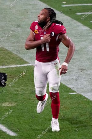 Arizona Cardinals wide receiver Larry Fitzgerald (11) during an NFL football game against the San Francisco 49ers, in Glendale, Ariz