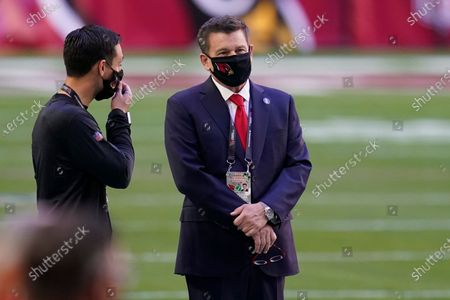 Arizona Cardinals owner Michael Bidwill prior to an NFL football game against the San Francisco 49ers, in Glendale, Ariz