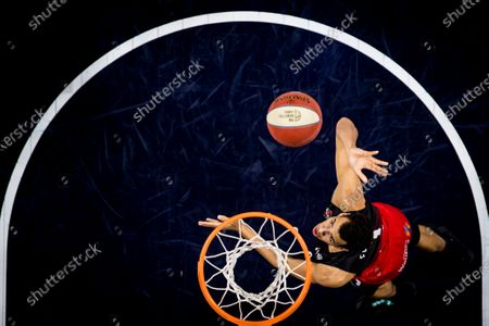 Spirou's Noah Fogang pictured in action during the basketball match between Phoenix Brussels and Spirou Charleroi, Saturday 26 December 2020 in Brussels, on the sixth day of the 'EuroMillions League' Belgian first division basket championships, in the group A.