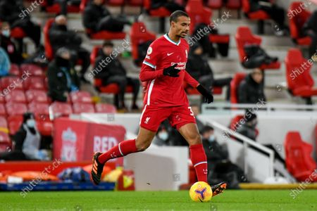 Liverpool defender Joel Matip (32) during the Premier League match between Liverpool and West Bromwich Albion at Anfield, Liverpool